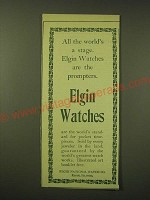 1902 Elgin Watch Ad - All the world's a stage.