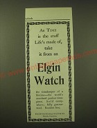 1902 Elgin Watch Ad - As time is the stuff life's made of
