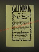 1902 Chicago & North-Western Railway Ad - California The New Overland Limited