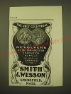 1902 Smith & Wesson Revolvers Ad - The only gold medal given for revolvers