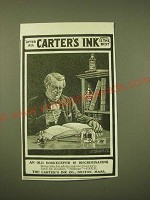 1902 Carter's Ink Ad - An old bookkeeper is discriminating