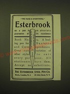 1902 Esterbrook Steel Pen Bank No. 14 Ad - The name is everything