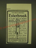 1902 Esterbrook Steel Pen Falcon No. 048 Ad - The name is everything