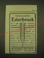 1902 Esterbrook Steel Pen Vertical No. 556 Ad - The name is everything