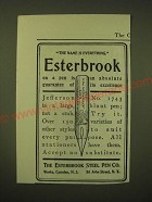 1902 Esterbrook Steel Pen Jefferson No. 1743 Ad - the name is everything