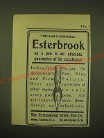 1902 Esterbrook Steel Pen Inflexible No. 322 Ad - The name is everything