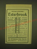 1902 Esterbrook Steel Pen Counselor's No. 688 Ad - The Name is everything