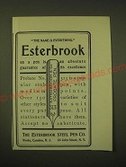 1902 Esterbrook Steel Pen Probate No. 313 Ad - The name is everything