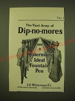 1902 Waterman's Ideal Fountain Pen Ad - The vast army of dip-no-mores