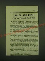 1902 Postum Food Coffee Ad - Black and rich is the way Postum coffee should be