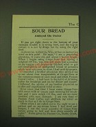 1902 Postum Food Coffee and Grape-Nuts Cereal Ad - Sour bread annoyed the Doctor