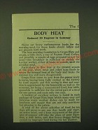 1902 Postum Food Coffee and Grape-Nuts Cereal Ad - Body heat reduced 20 degrees