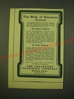 1902 The Travelers Insurance Company Ad - The risk of summer travel