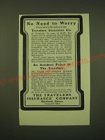 1902 The Travelers Insurance Company Ad - No need to worry