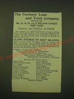 1902 The Farmers' Loan and Trust Company Ad - The Farmers' Loan and Trust