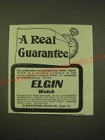 1902 Elgin Watch Ad - A real guarantee