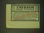 1902 Emerson College of Oratory Ad - Emerson College of Oratory