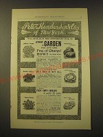 1893 Peter Henderson & Co. Seeds Ad - Peter Henderson & Co. of New York