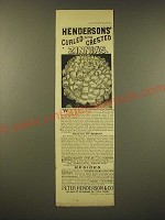 1893 Peter Henderson & Co. Seeds Ad - Hendersons' Curled and crested Zinnias