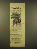 1893 W. Atlee Burpee & Co. Seeds Ad - Novelties