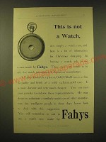 1893 Fahys Monarch 14 Karat Gold Filled Watch Case Ad - This is not a watch
