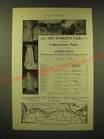 1893 Northern Pacific Railroad Ad - When you visit the World's Fair