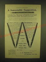 1893 Waterman's Ideal Fountain Pens Ad - A seasonable suggestion