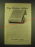 1893 The Ribbon Adder Ad - The Ribbon Adder