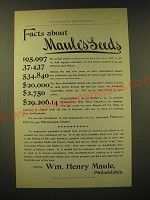 1893 Maule's Seeds Ad - Facts about Maule's Seeds