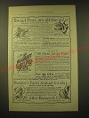 1893 W. Atlee Burpee & Co. Seeds Ad - Sweet peas are all the go!
