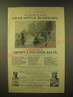 1893 The Crown Perfumery Crab-Apple Blossoms and Lavender Salts Ad