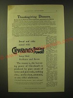 1893 Cleveland's Baking Powder Ad - Thanksgiving dinners