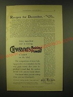 1893 Cleveland's Baking Powder Ad - Recipes for December