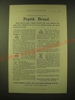 1893 Cleveland's Baking Powder Ad - Peptik Bread