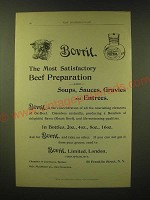 1893 Bovril Beef Preparation Ad - Bovril the most satisfactory beef preparation