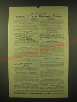 1893 Frederick A. Stokes Company Ad - Choice gifts at Moderate Prices