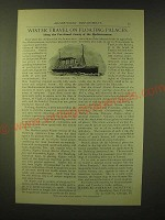 1893 Hamburg-American Packet Co. Ad - Winter travel on floating palaces