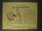 1893 Standard Mfg. Porcelain Lined Sitz Bath Ad - Do you bathe?