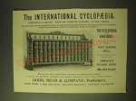 1893 Dodd, Mead & Company Ad - The International Cyclopaedia