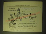 1893 Kayser Patent Finger Tipped Silk Gloves Ad - Don't be inconsistent