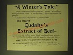 1893 Cudahy's Extract of Beef Ad - A Winter's Tale