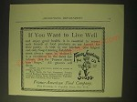 1893 Franco-American Soups Ad - If you want to live well
