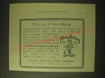 1893 Franco-American Soups Ad - The cost of soup-making