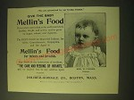 1893 Mellin's Food Ad - Edw. W. Fischer - Give the Baby Mellin's Food