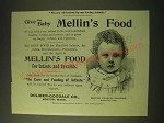 1893 Mellin's Food Ad - Marion Frances Brigham - Give the Baby Mellin's Food