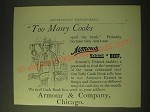 1893 Armour's Extract of Beef Ad - Too many cooks