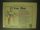 1893 N.K. Fairbank & Co. Cottolene Ad - You Men