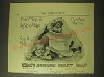 1893 Kirk's Juvenile Toilet Soap Ad - Baby McKee & Ruth Cleveland