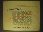 1893 Gorham Manufacturing Co. Silver Ad - Christmas