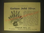 1893 Gorham Manufacturing Co. Silversmiths Ad - Spoons